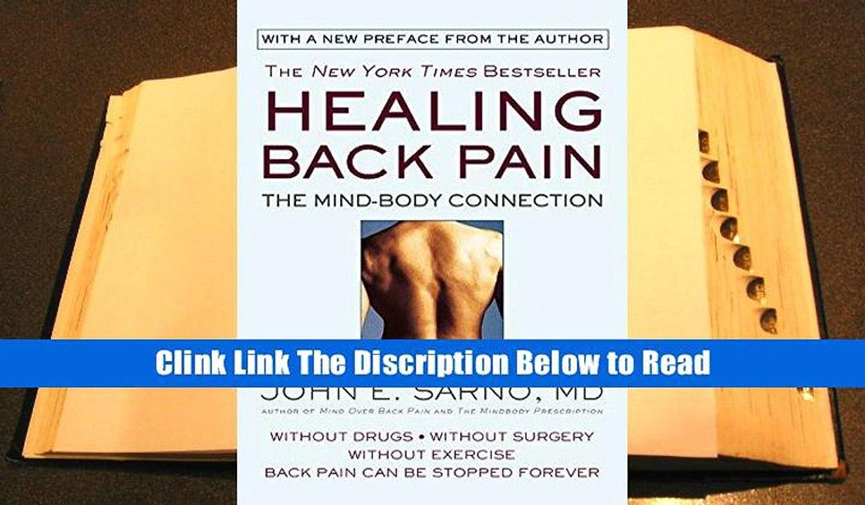 Healing Back Pain John Sarno Pdf Free Download