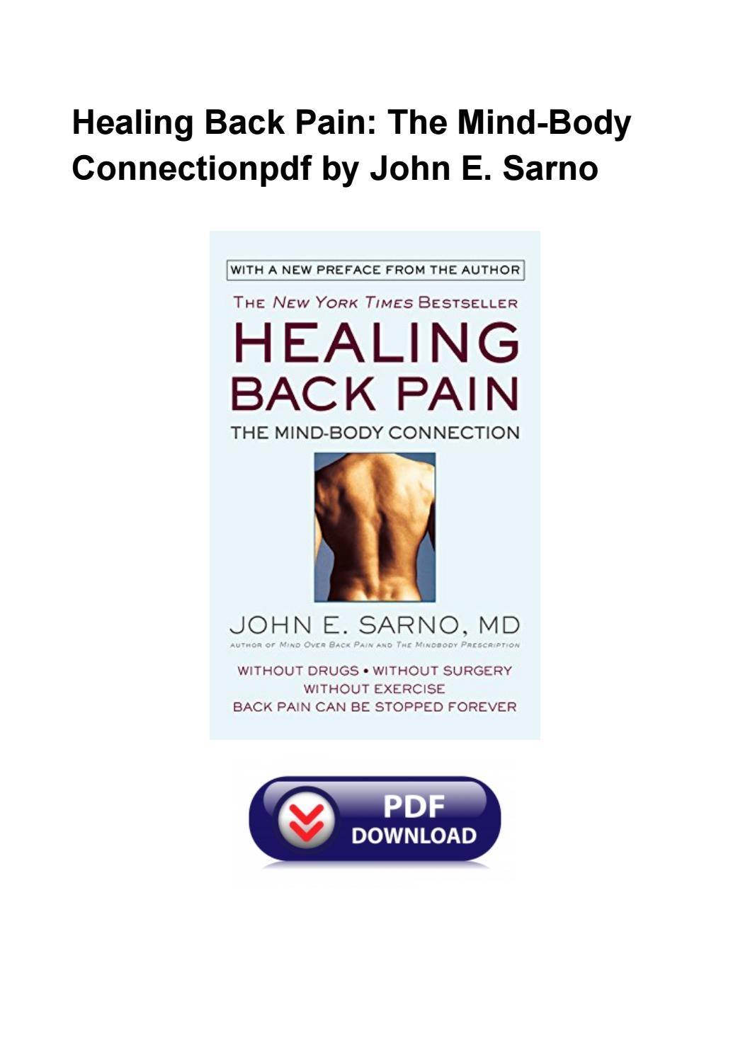Healing Back Pain John Sarno Pdf