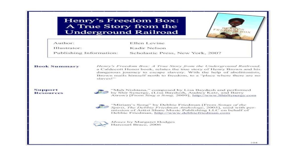 Henrys Freedom Box Pdf