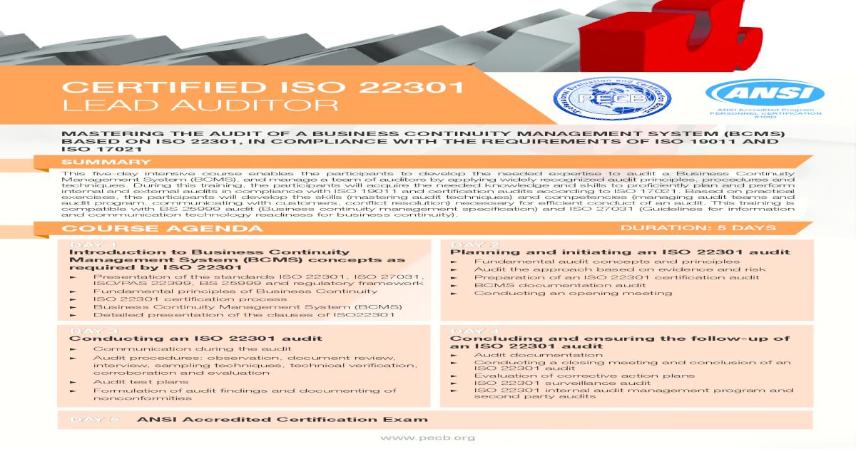 Iso 22301 Pdf