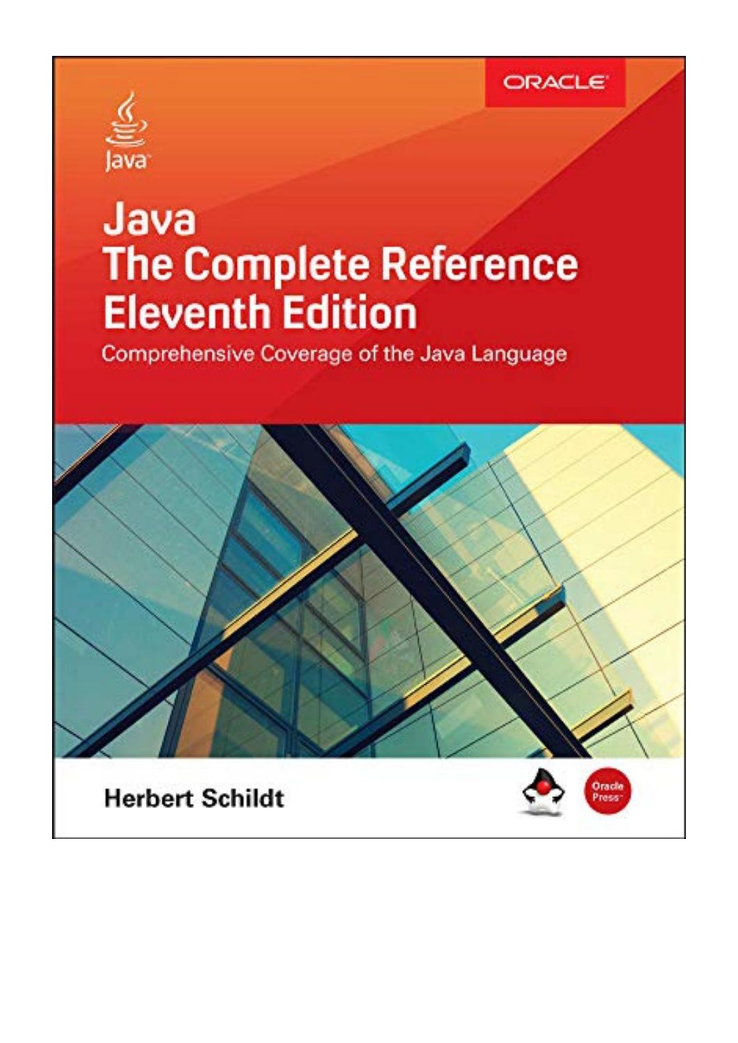 Java The Complete Reference Eleventh Edition Pdf