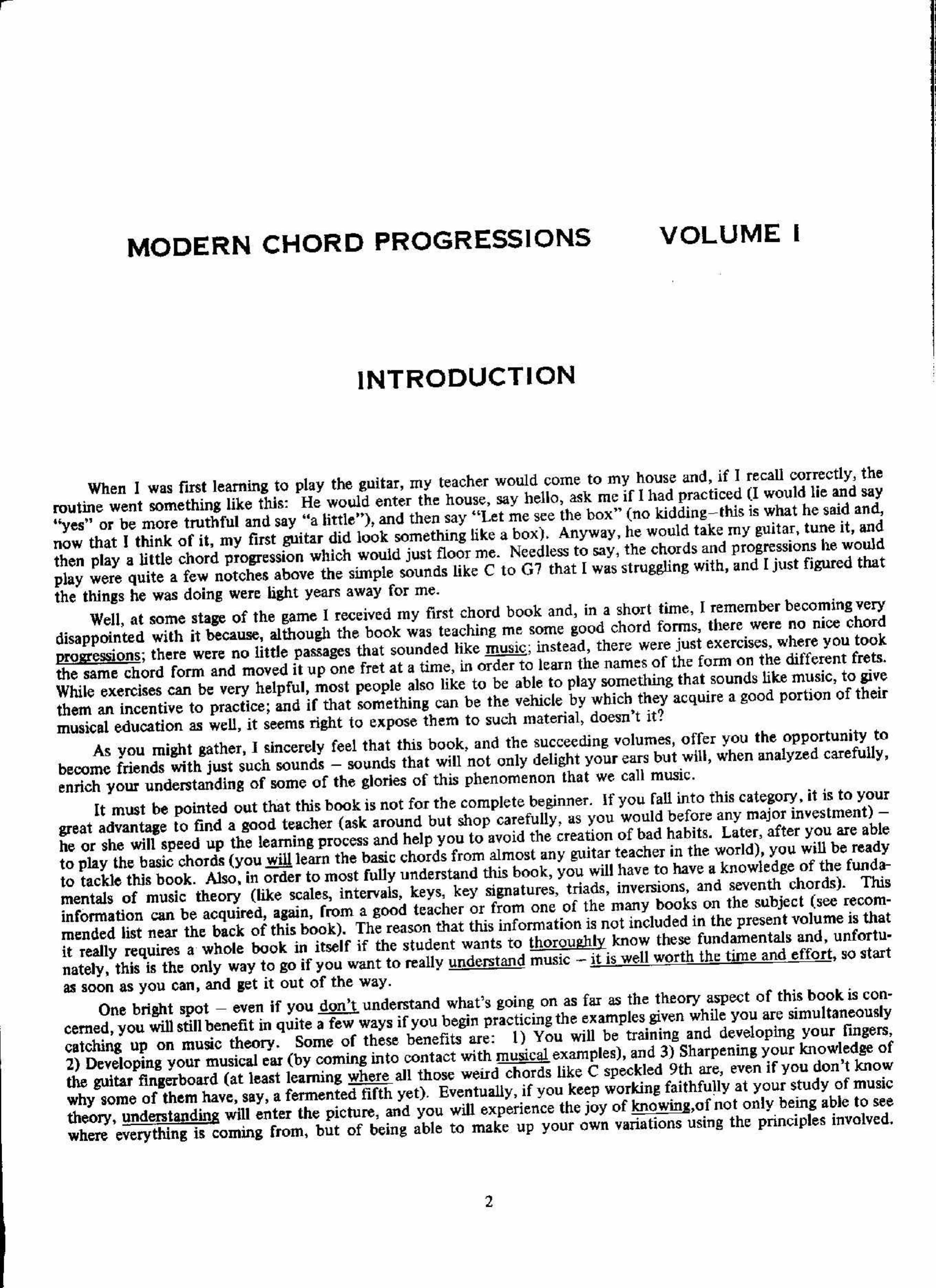 Jazz Guitar Chord Progressions Pdf