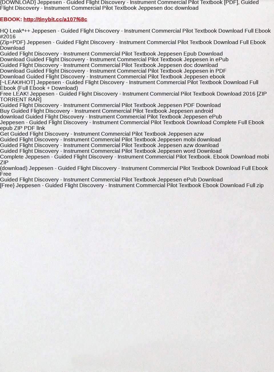 Jeppesen Instrument Commercial Pdf Download