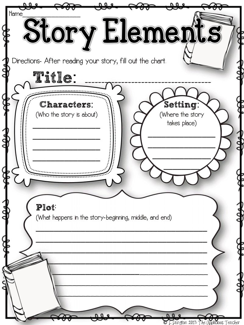 Kindergarten Story Elements Worksheet Pdf