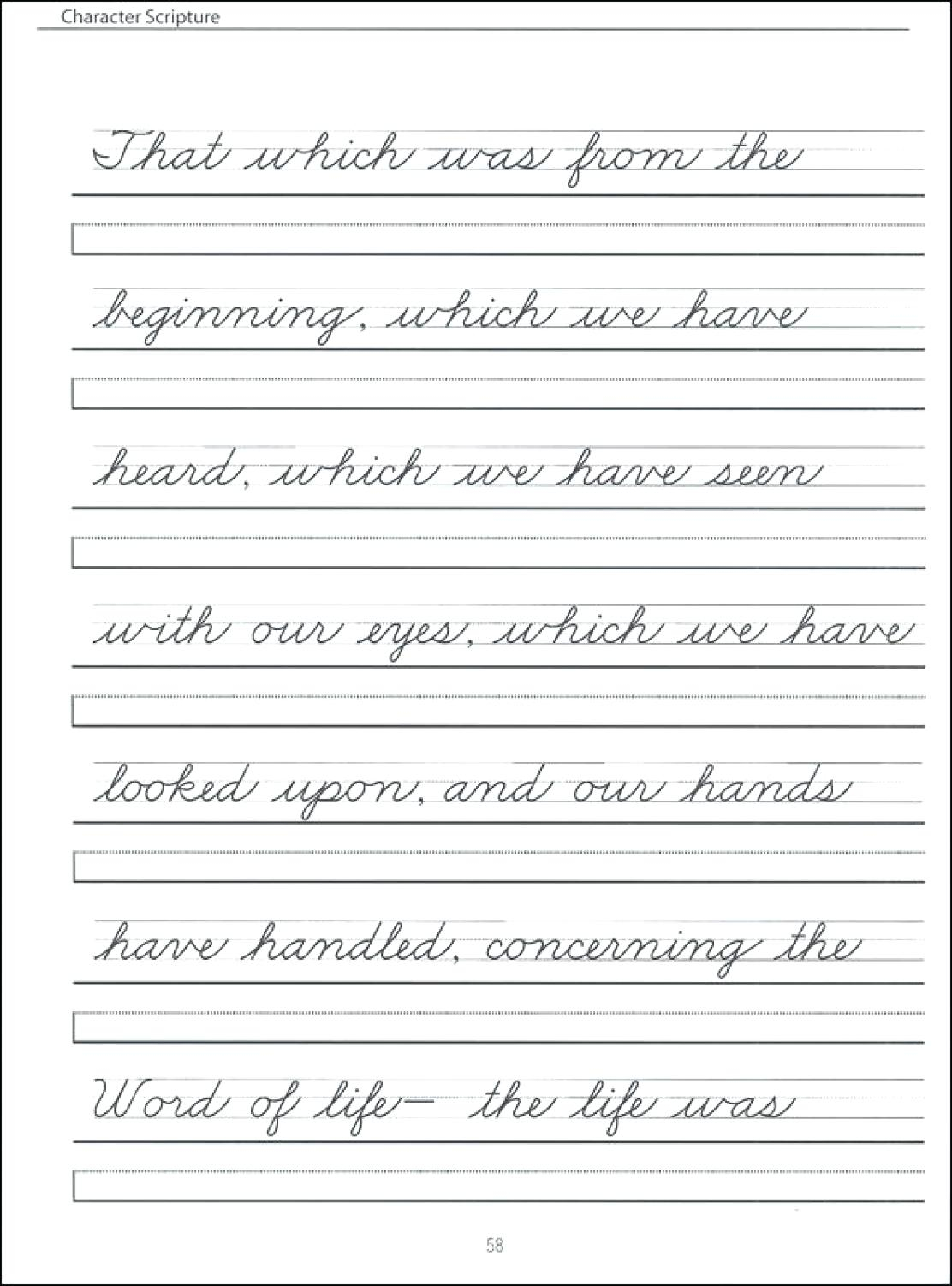 Learning Cursive Worksheets Pdf