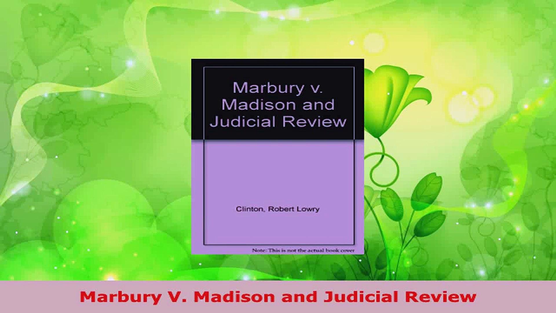 Marbury V Madison Pdf