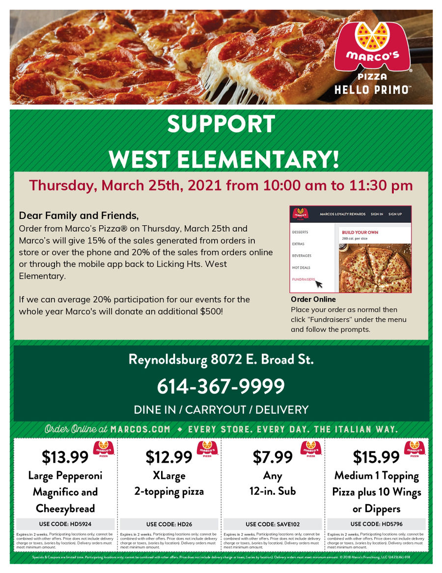 Marco's Pizza Menu Pdf