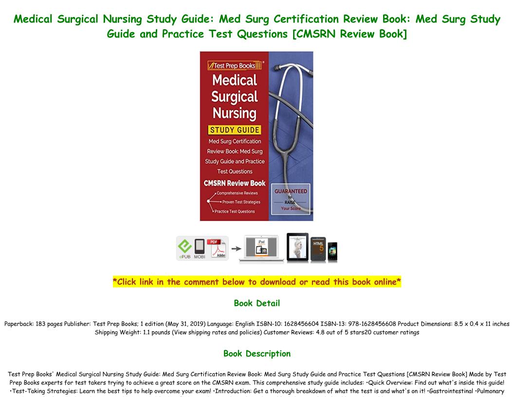 Med Surg Certification Study Guide Pdf