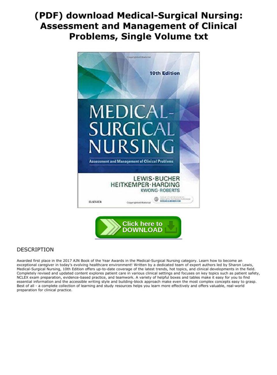Medical Surgical Nursing Lewis 10th Edition Pdf