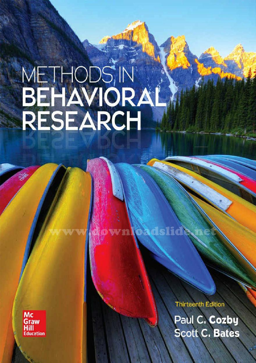 Methods In Behavioral Research 13th Edition Pdf