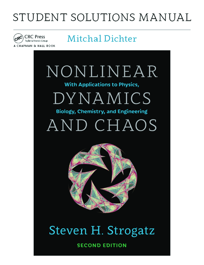 Nonlinear Dynamics And Chaos Pdf 2nd Edition