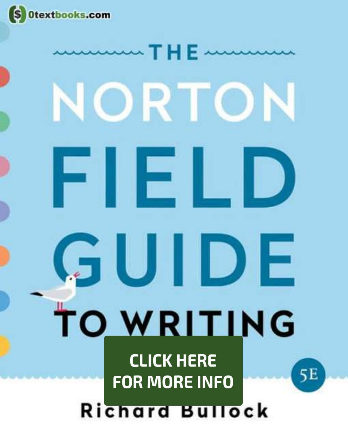 Norton Field Guide To Writing 5th Edition Pdf