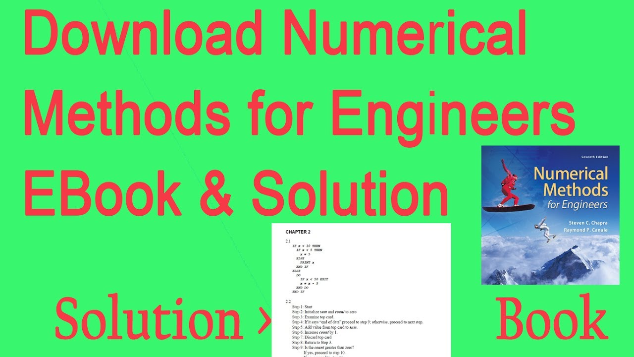 Numerical Methods For Engineers 7th Edition Pdf Download