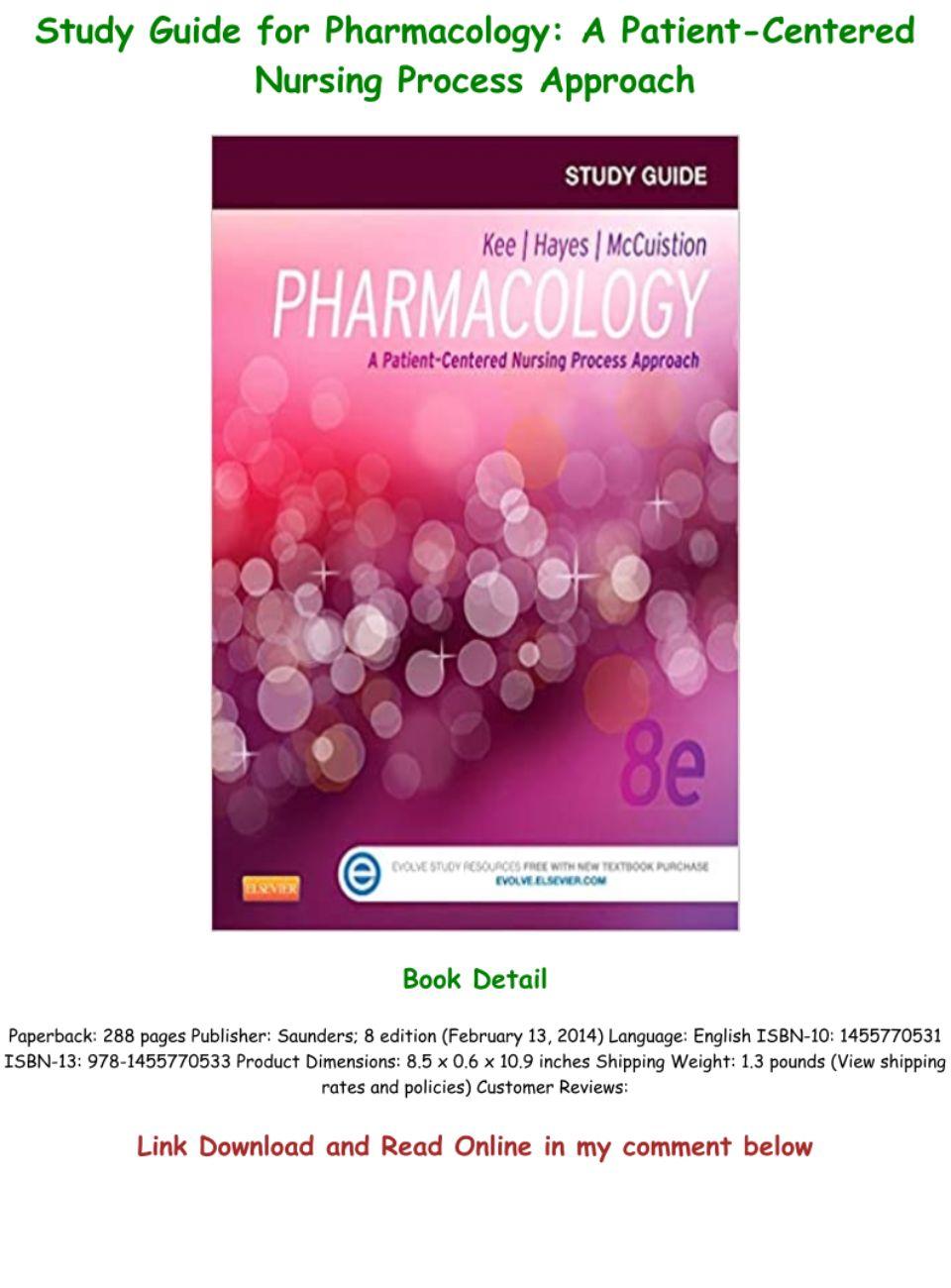 Nursing Pharmacology Study Guide Pdf
