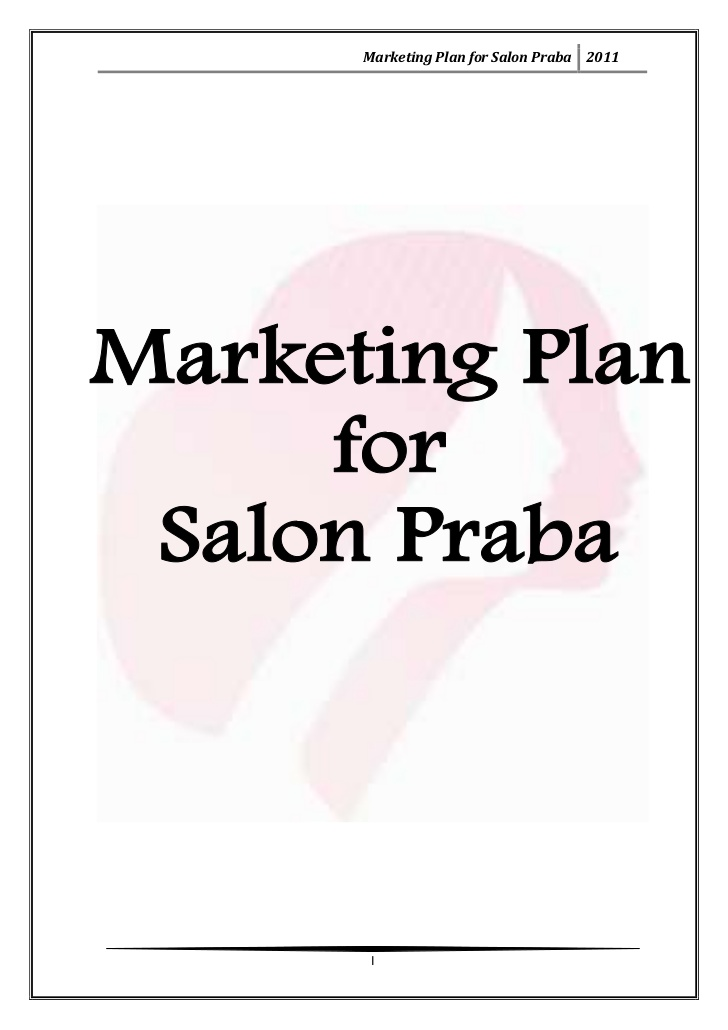 Pdf Hair Salon Business Plan Powerpoint