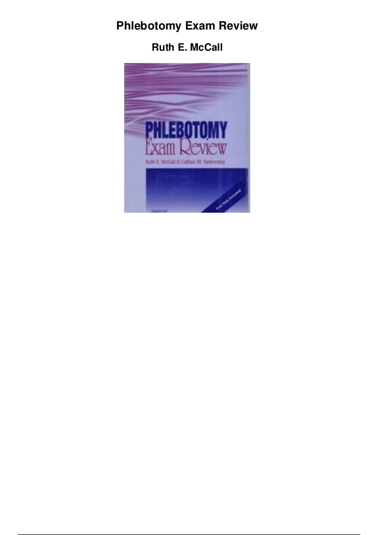 Phlebotomy Exam Review Pdf