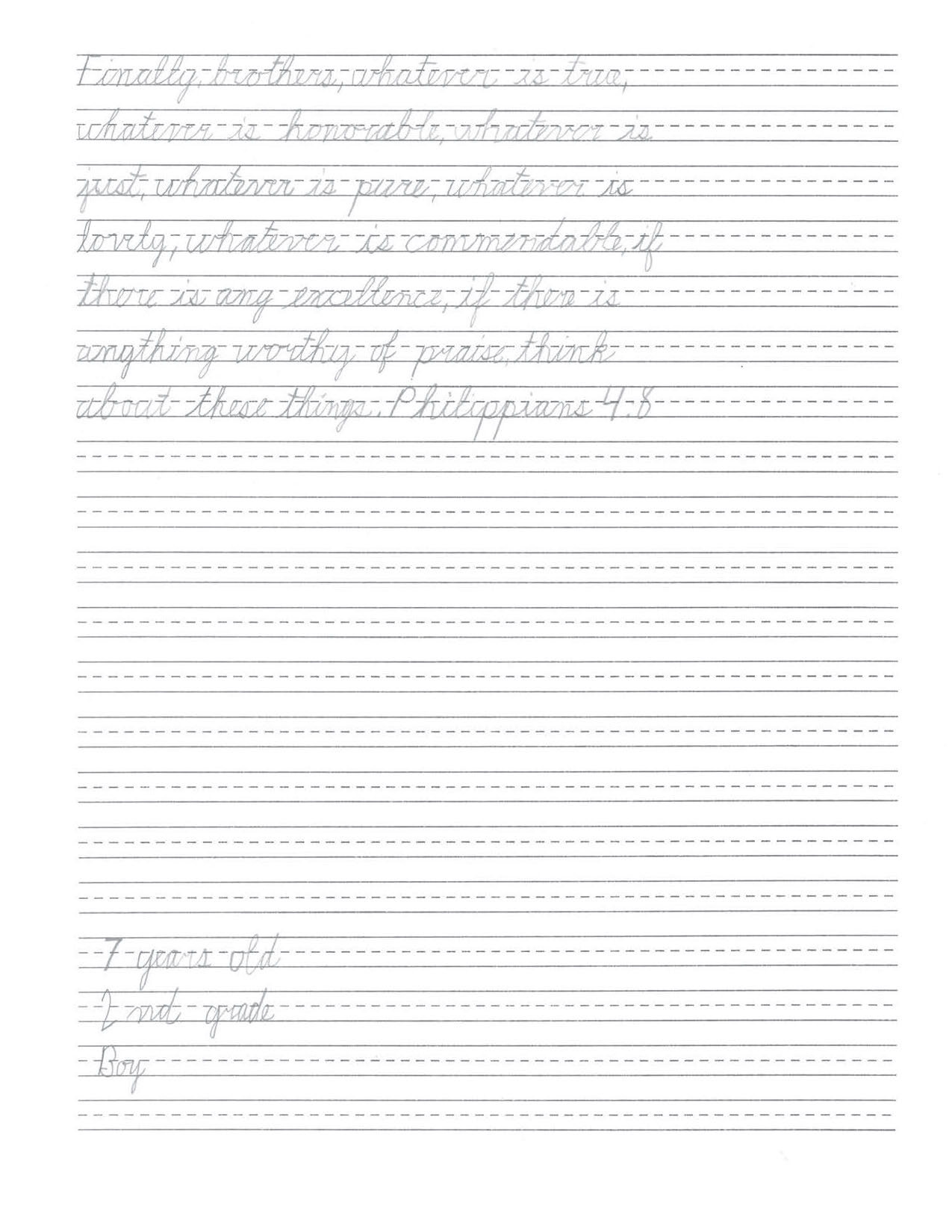 Printable Cursive Worksheets Pdf