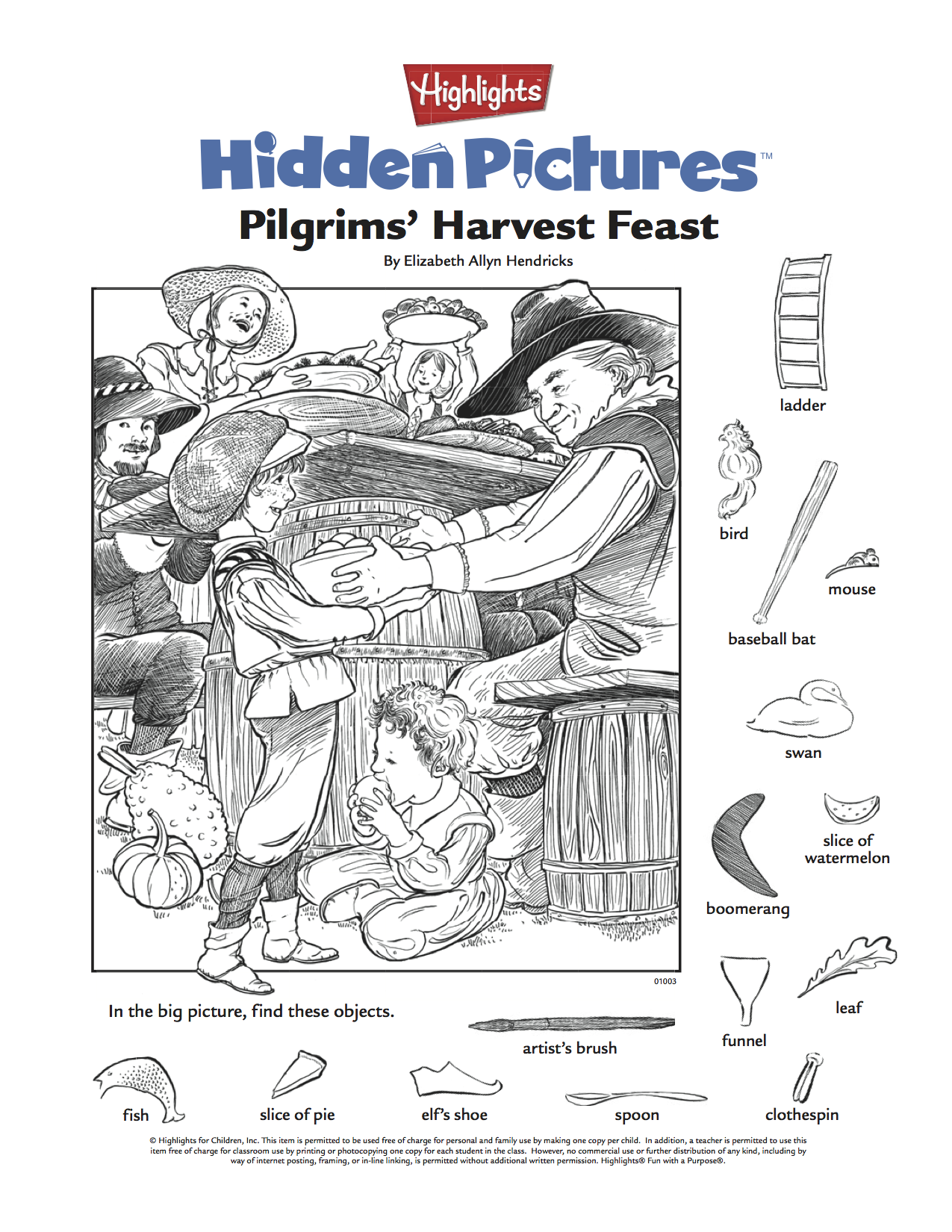 Printable Highlights Hidden Pictures Pdf