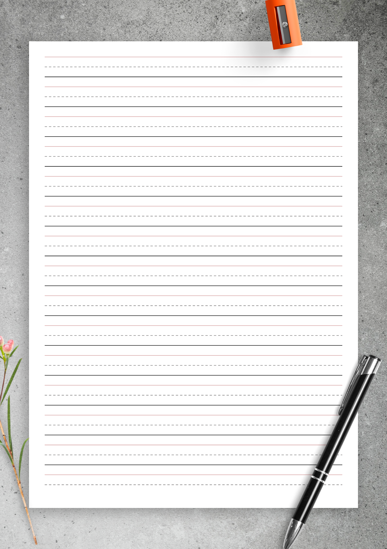 Printable Lined Writing Paper Pdf
