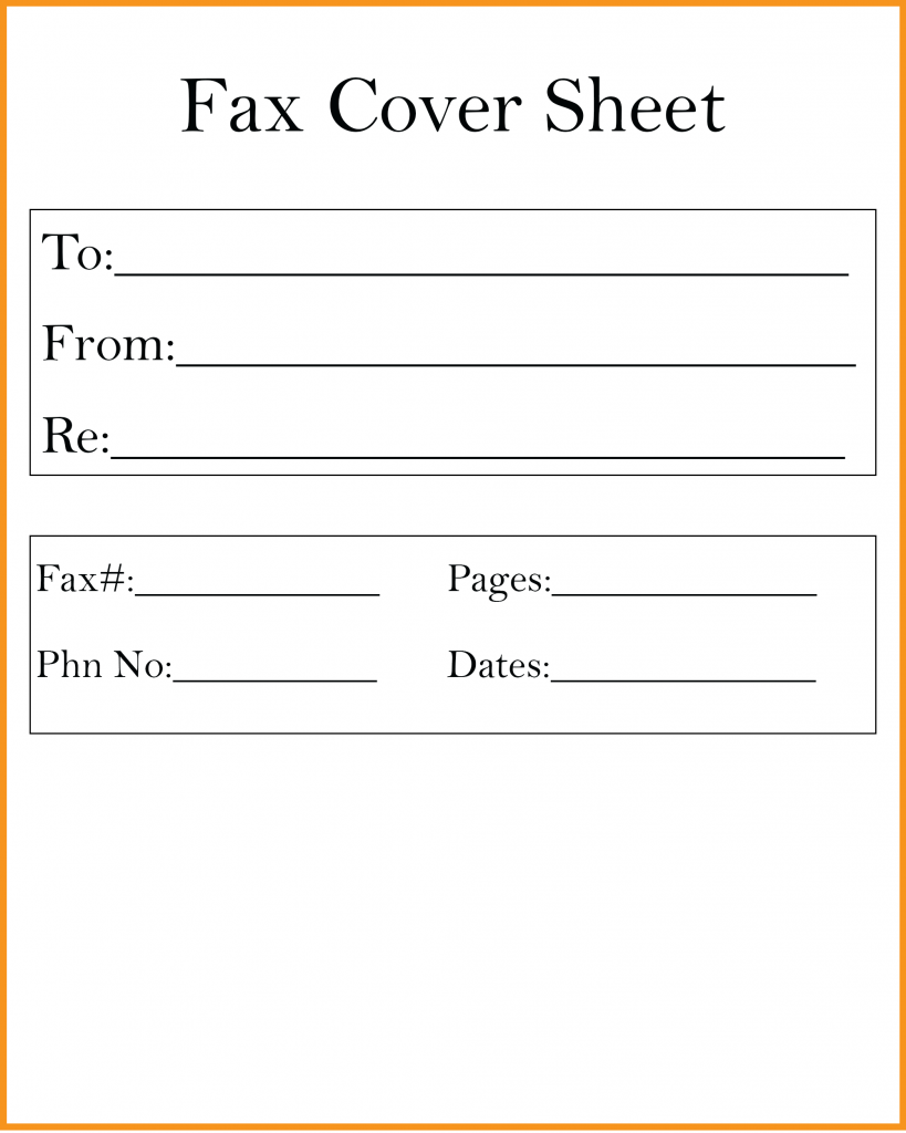 Printable Pdf Fax Cover Sheet Template
