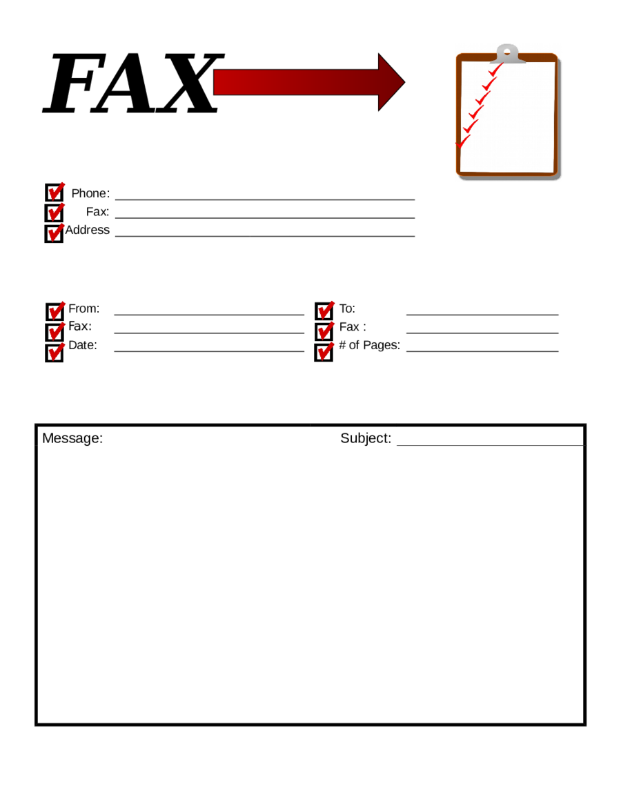 Printable Pdf Free Printable Downloadable Fax Cover Sheet