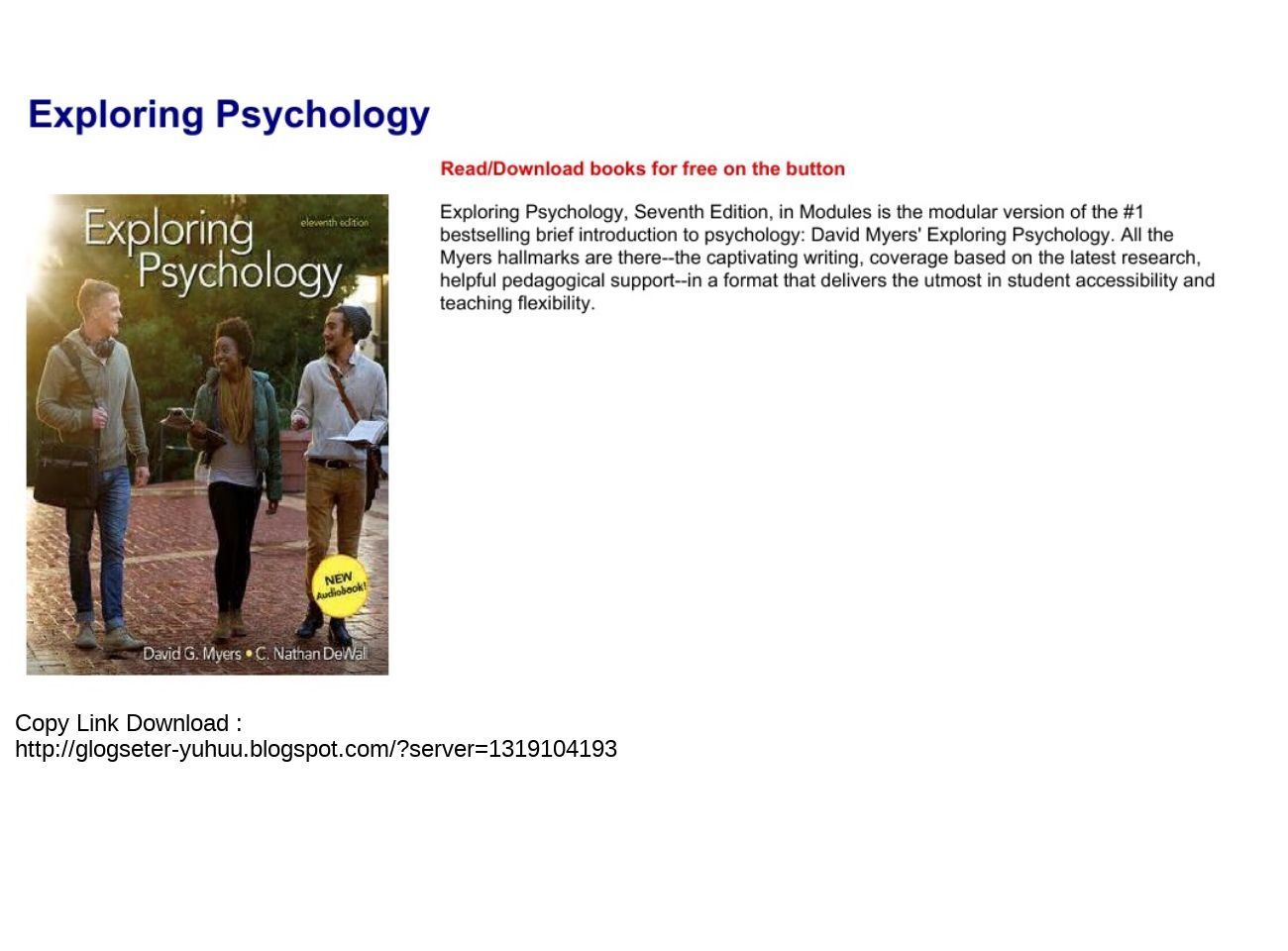 Psychology In Modules 11th Edition Pdf