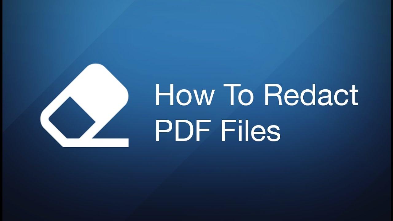 Redact Pdf Mac