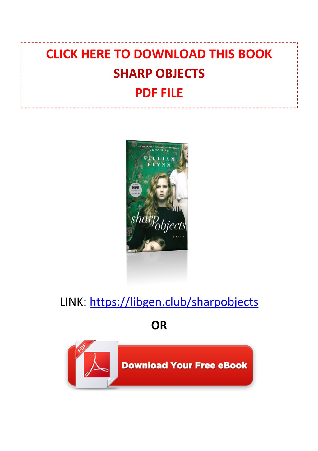 Sharp Objects Book Pdf