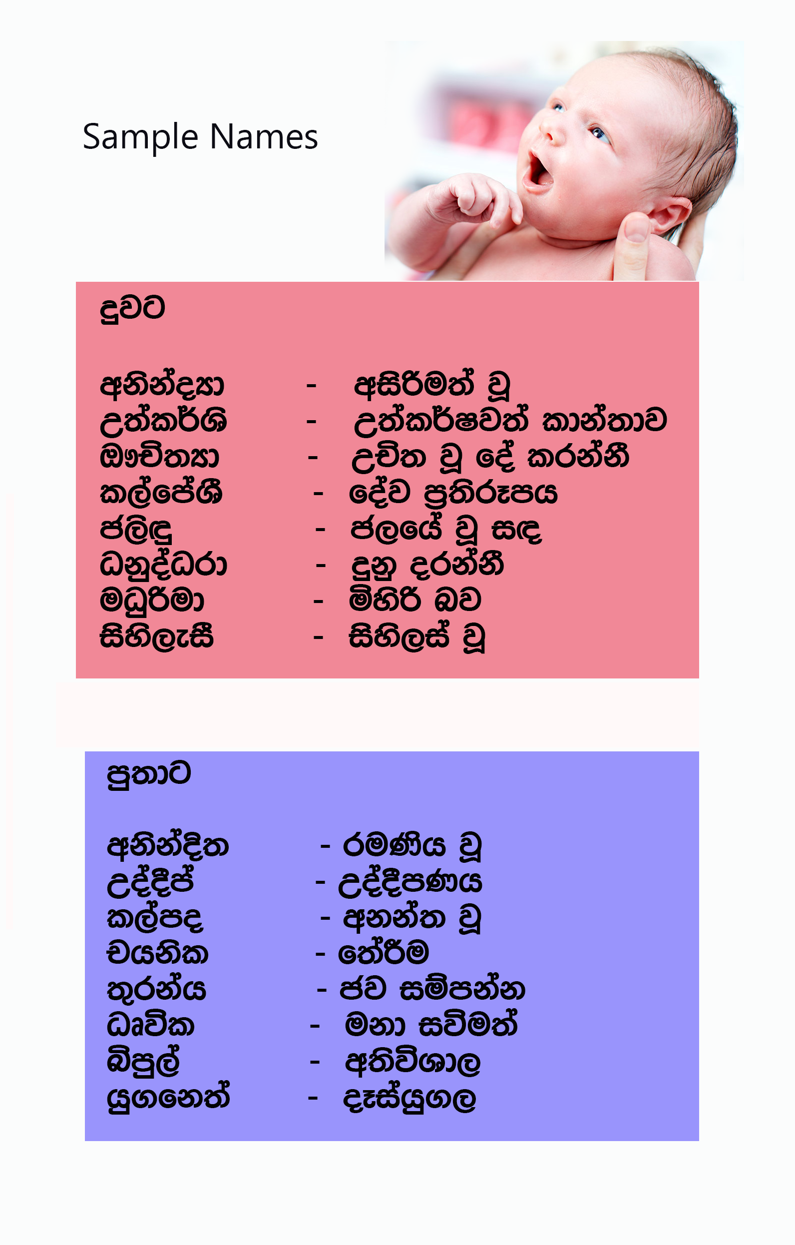 Sinhala Baby Name Book Pdf