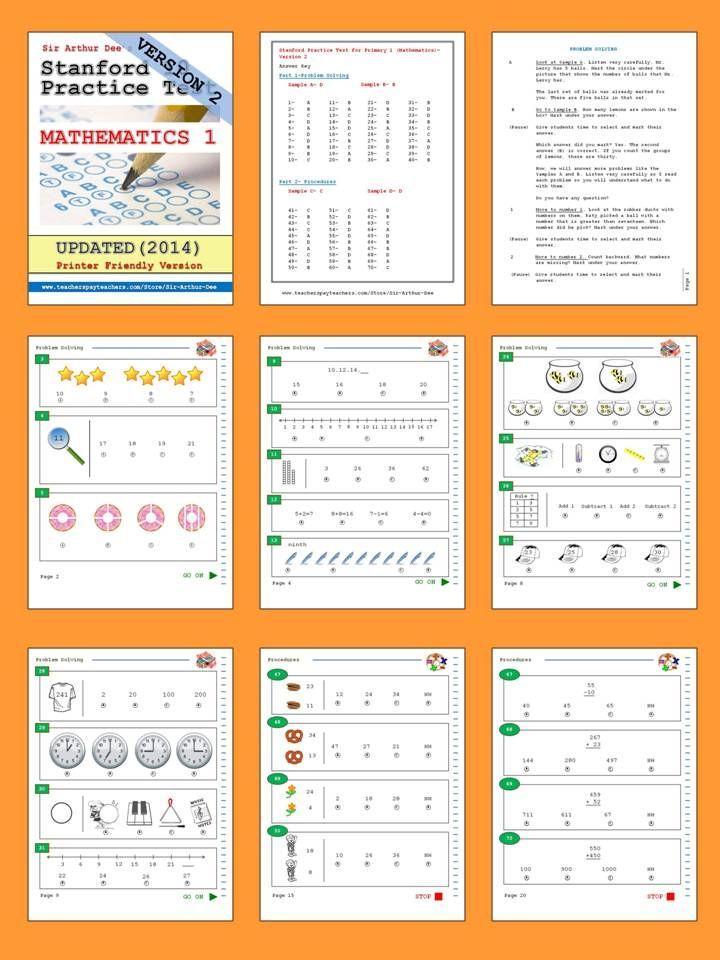 Stanford 10 Practice Test Pdf Kindergarten