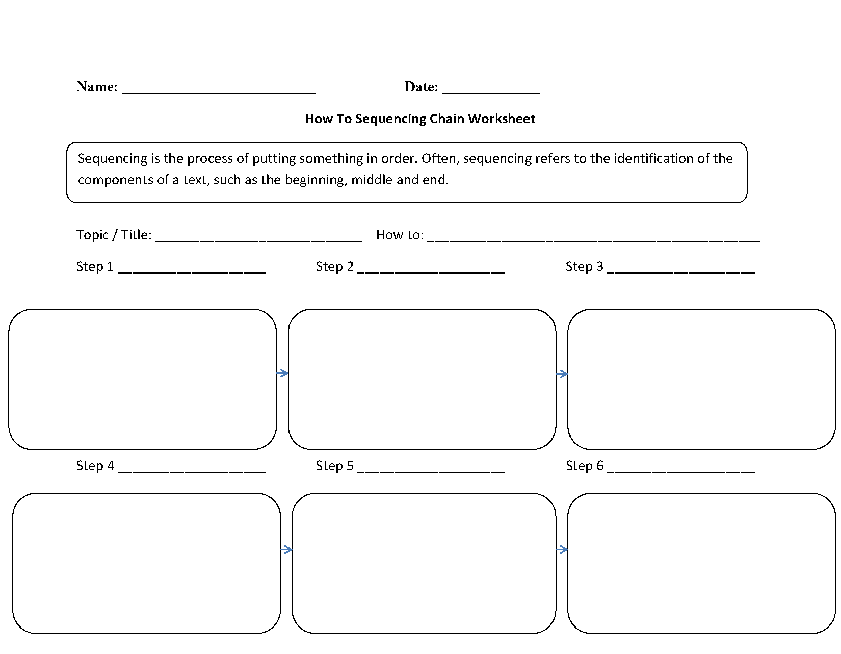 Story Sequencing Worksheets Pdf 4th Grade