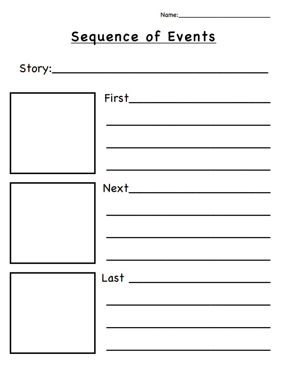 Story Sequencing Worksheets Pdf Grade 1