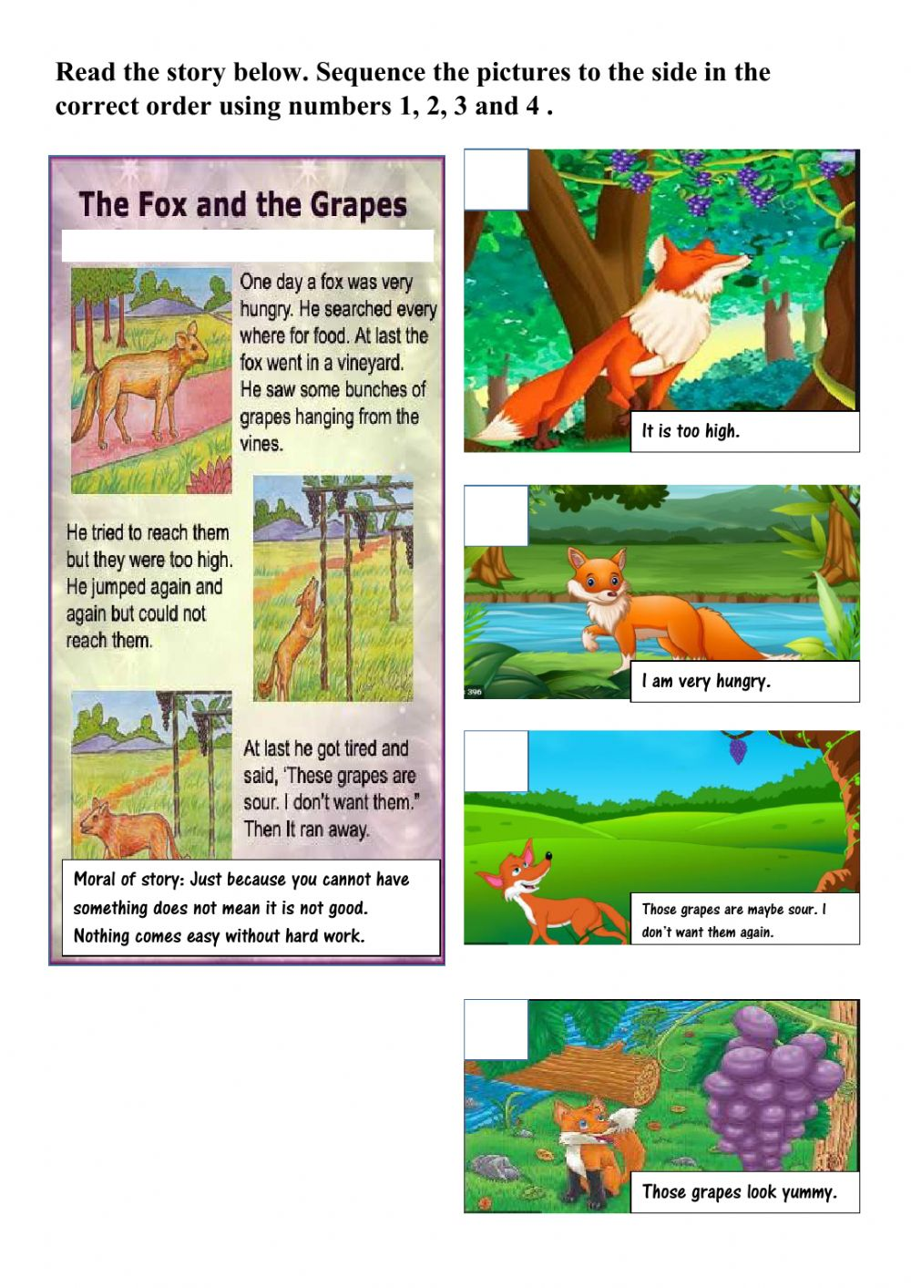 Story Sequencing Worksheets Pdf High School