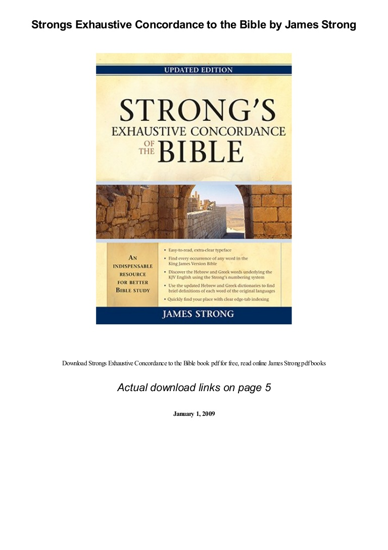 Strongs Concordance Free Download Pdf