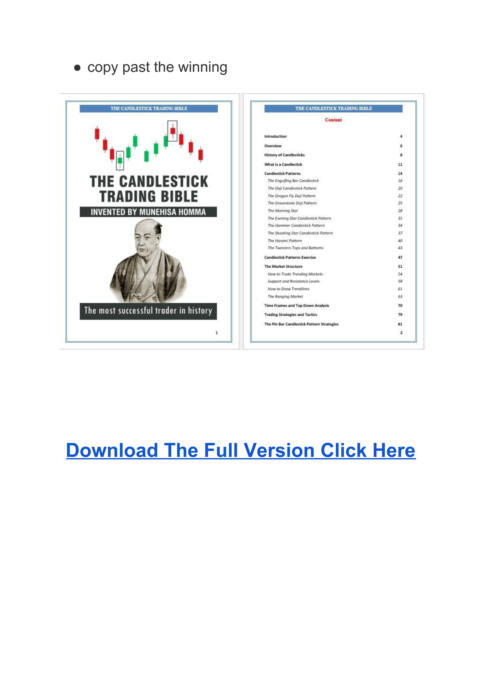 The Candlestick Trading Bible Pdf