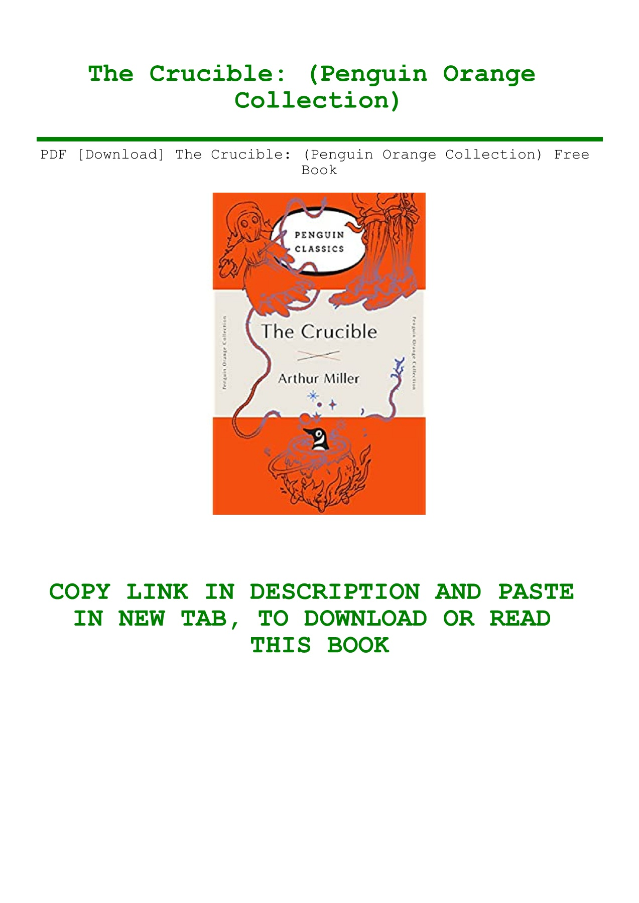The Crucible Free Pdf Download