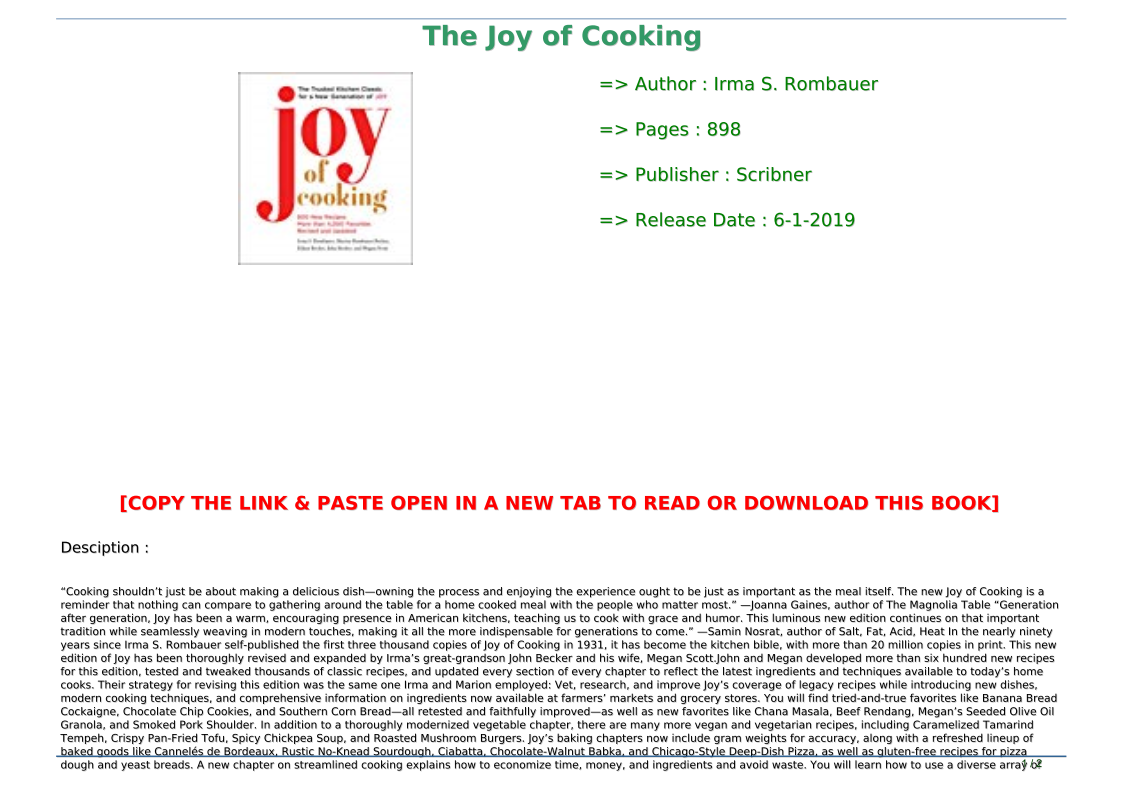 The Joy Of Cooking Pdf Download