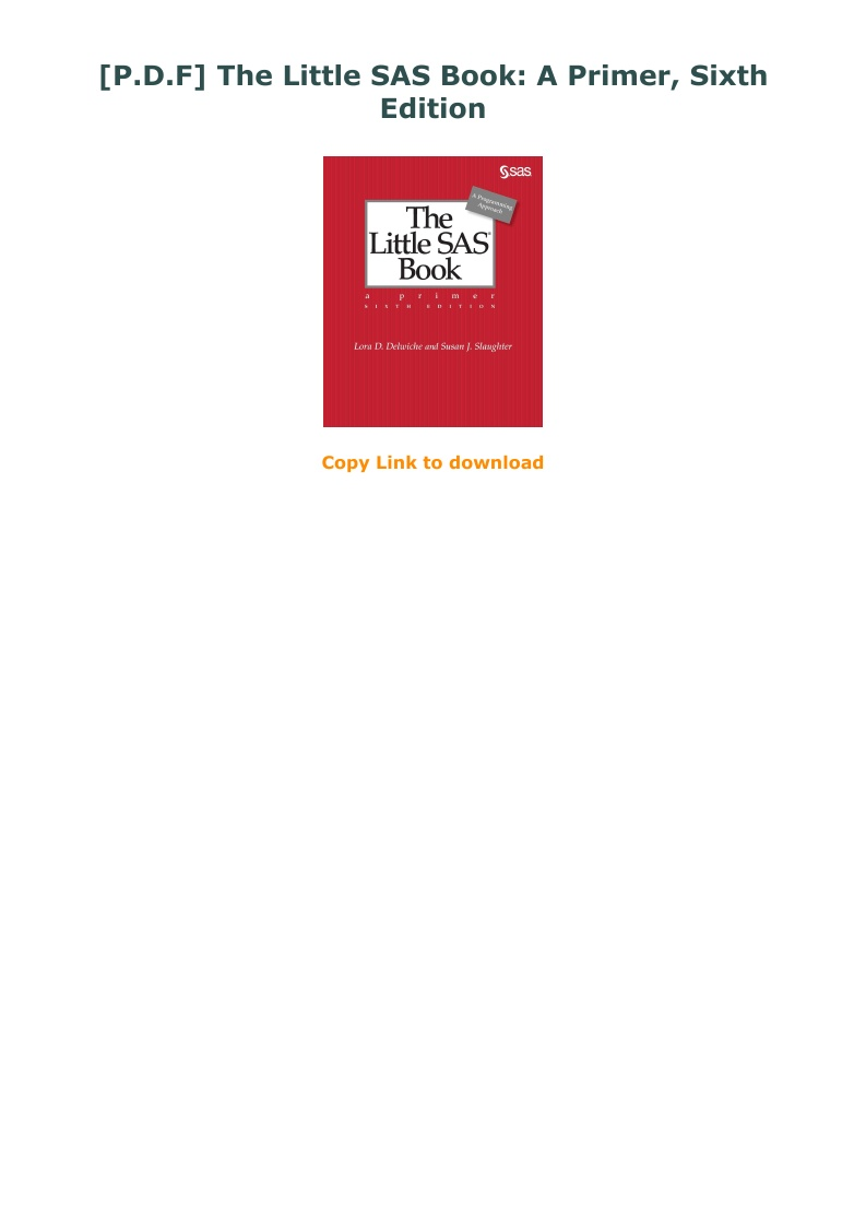 The Little Sas Book Pdf