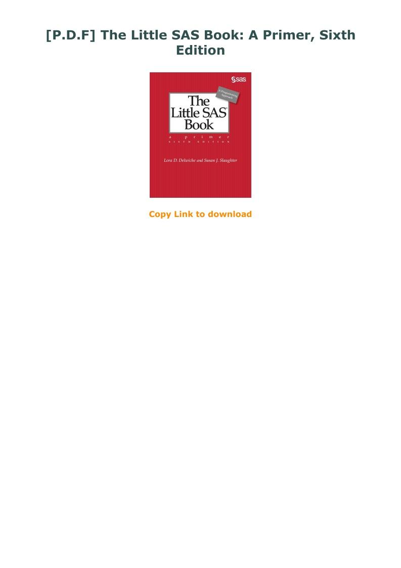 The Little Sas Book Pdf