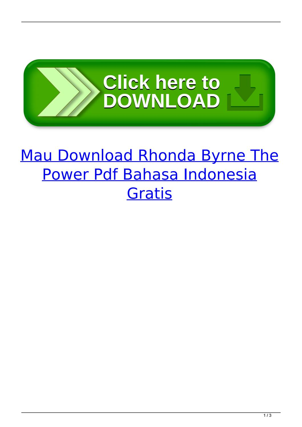 The Power Rhonda Byrne Pdf Indonesia