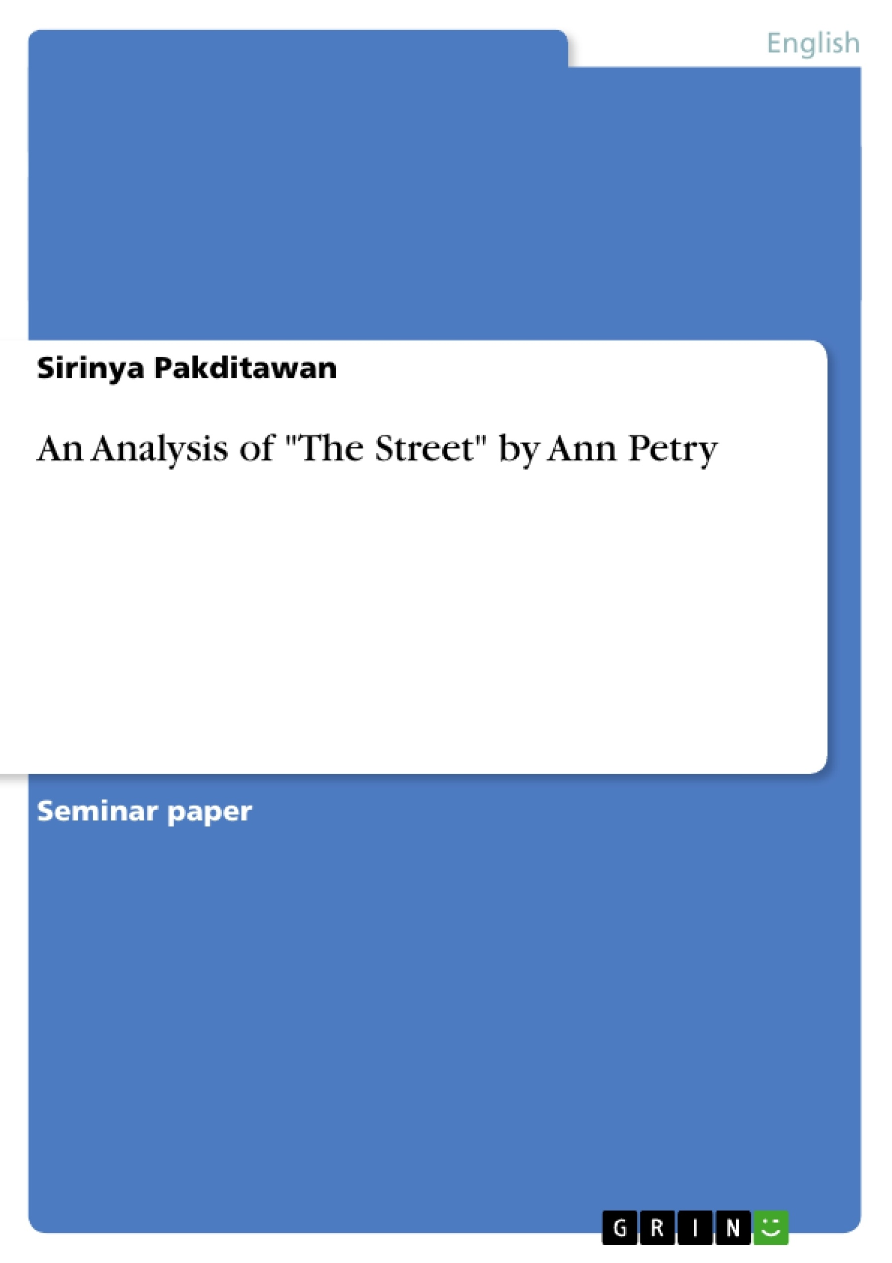 The Street Ann Petry Pdf