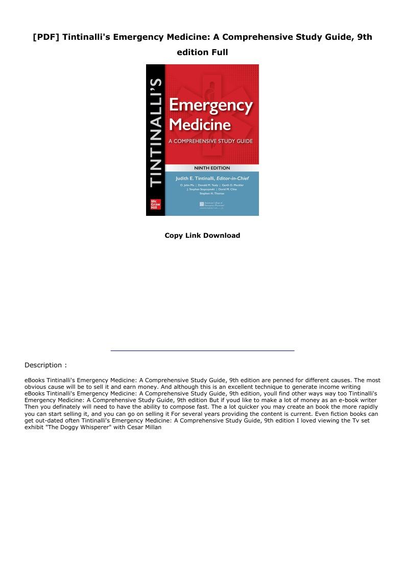 Tintinalli Emergency Medicine Pdf