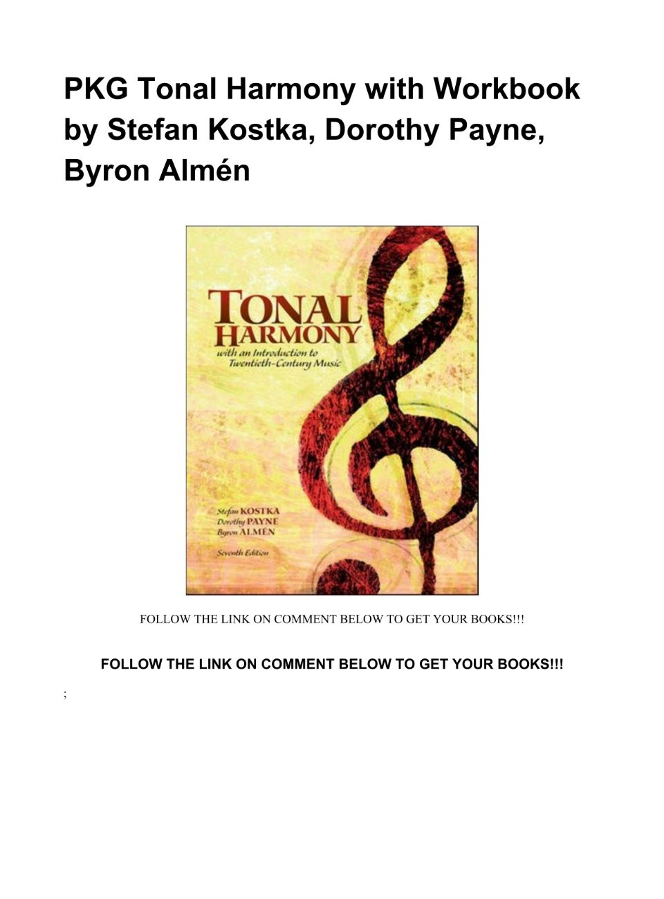 Tonal Harmony Pdf Download
