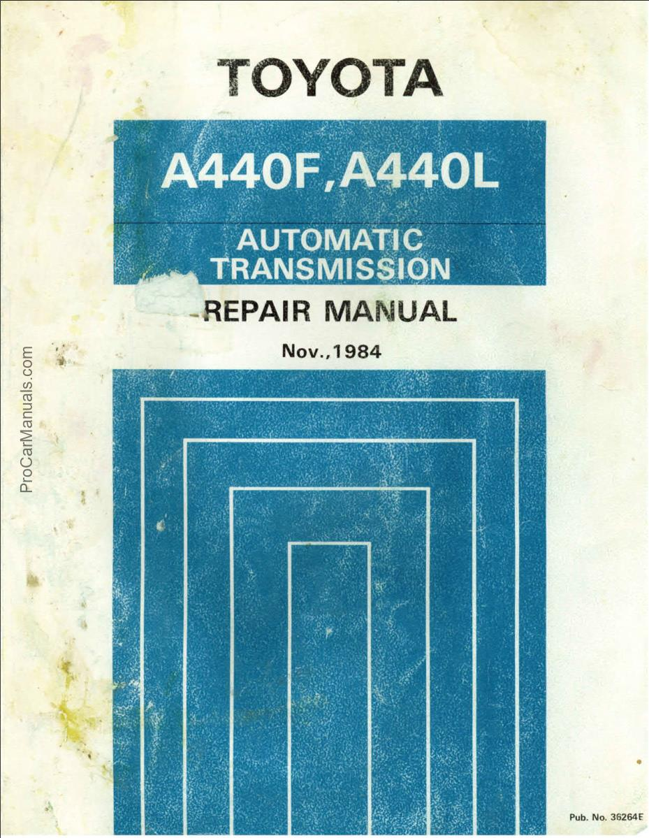 Toyota Automatic Transmission Repair Manual Pdf