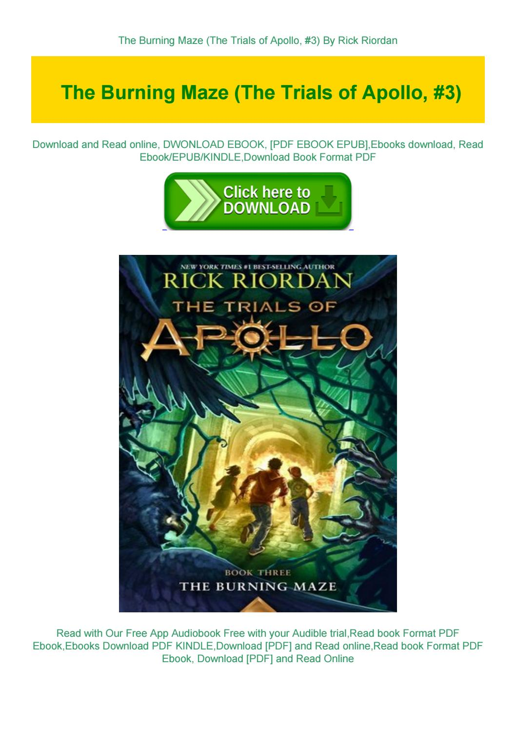 Trials Of Apollo The Burning Maze Pdf Free Download