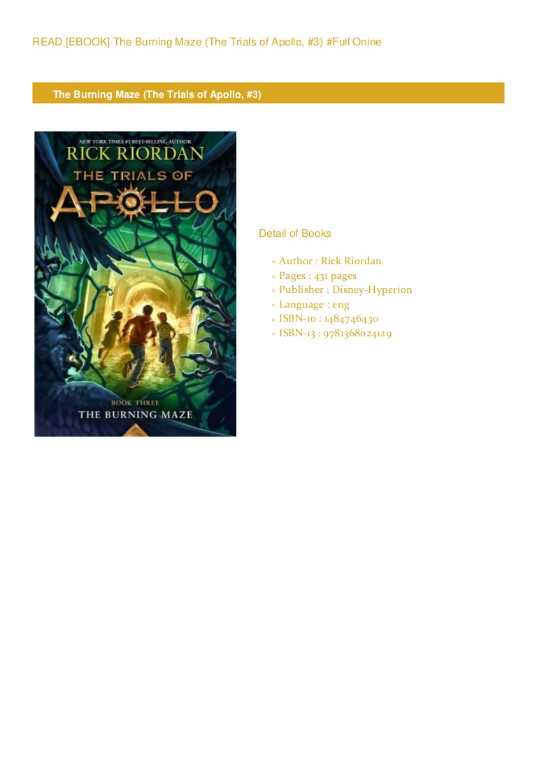Trials Of Apollo The Burning Maze Pdf
