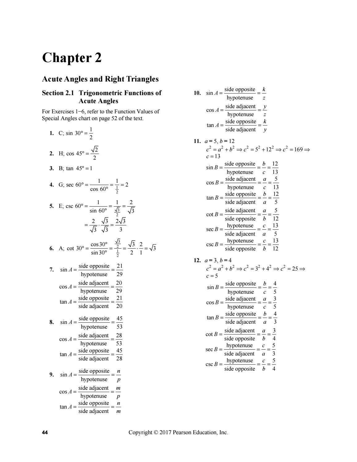 Trigonometry 11th Edition Pdf Free