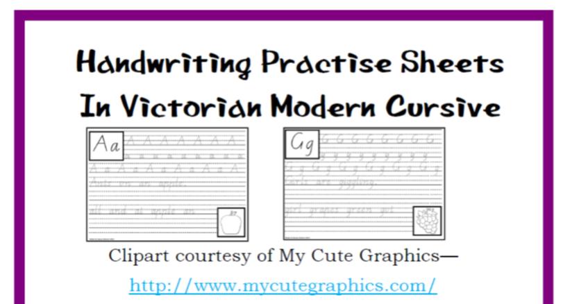 Victorian Modern Cursive Worksheets Pdf
