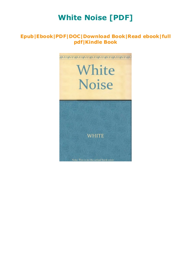 White Noise Don Delillo Pdf Free Download
