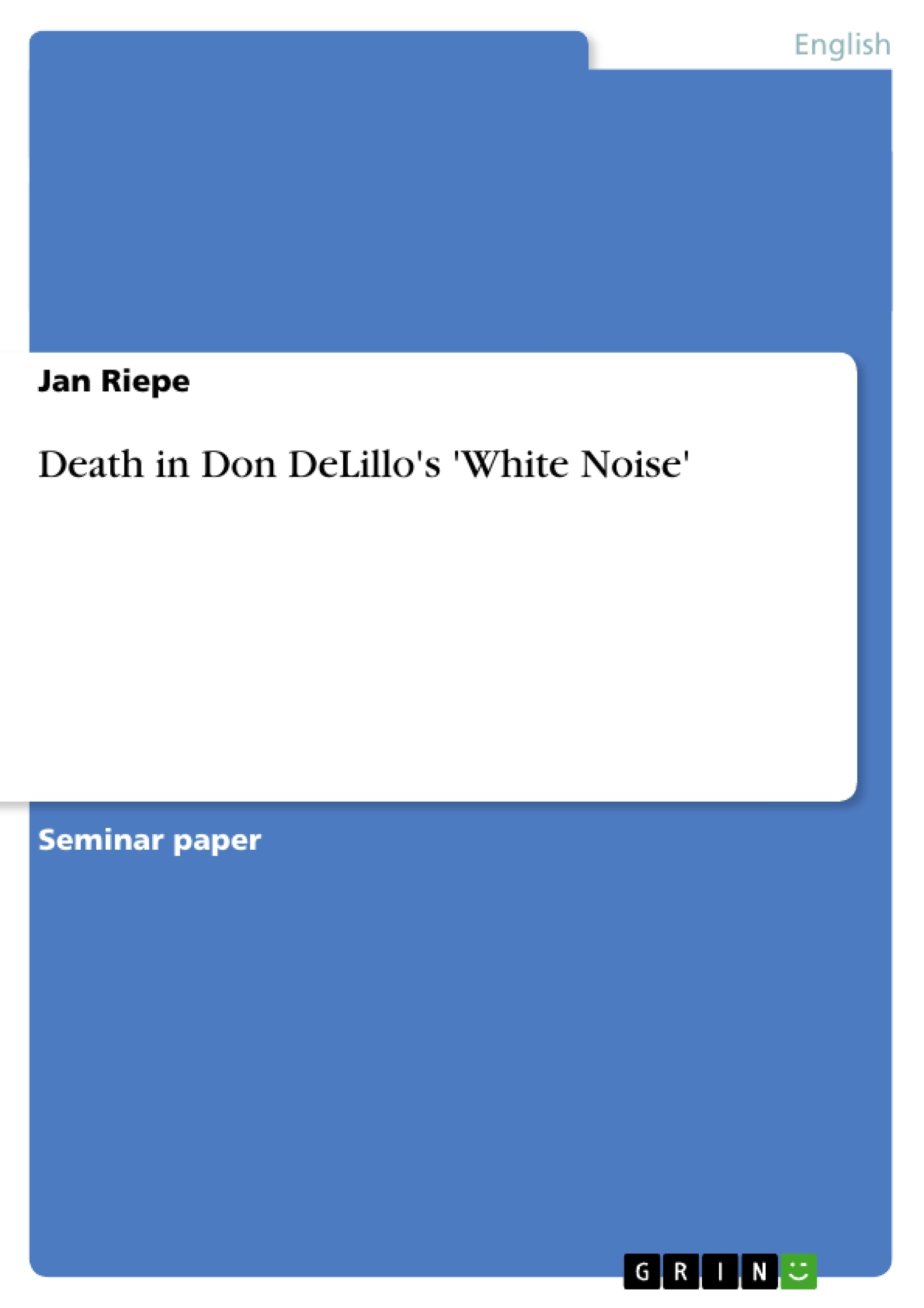 White Noise Don Delillo Pdf Free